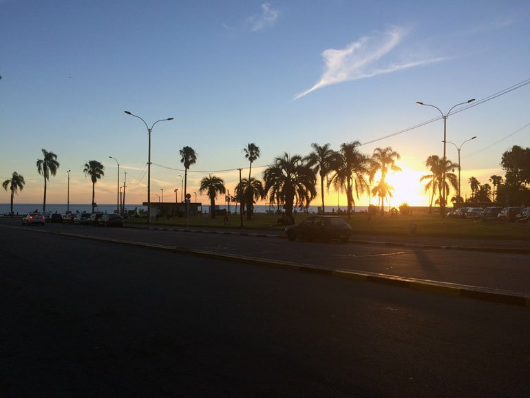Sunset in Montevideo